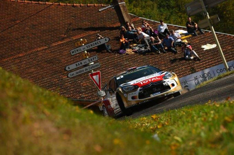 Citroën Racing sube al podio en casa con Meeke