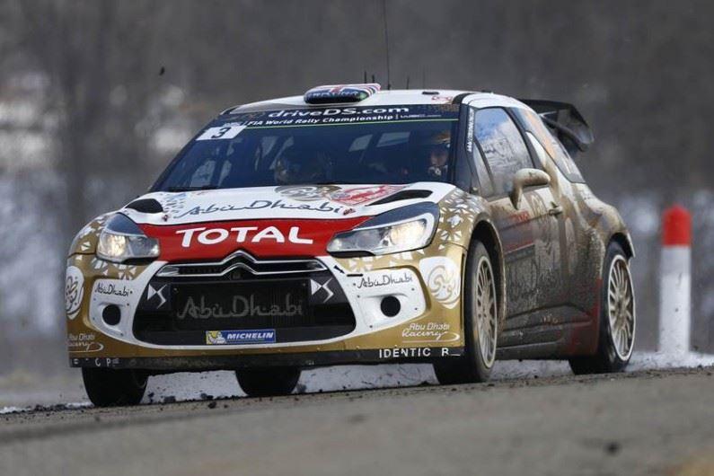Alto rendimiento de los DS 3 WRC en el Rally de Montecarlo