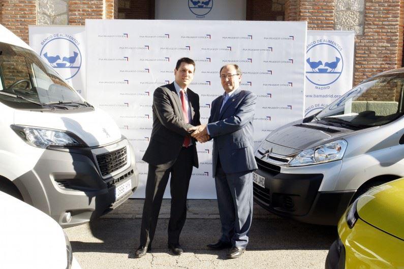 PSA Peugeot Citroën colabora con el Banco de Alimentos de Madrid.