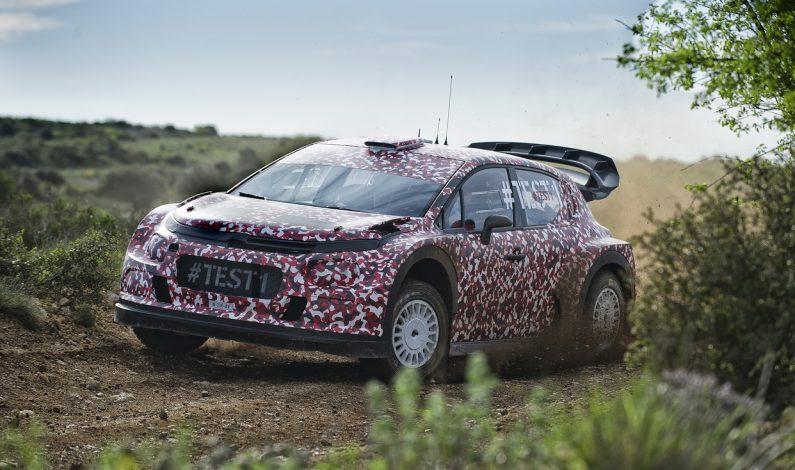 El C3 WRC comienza los test.