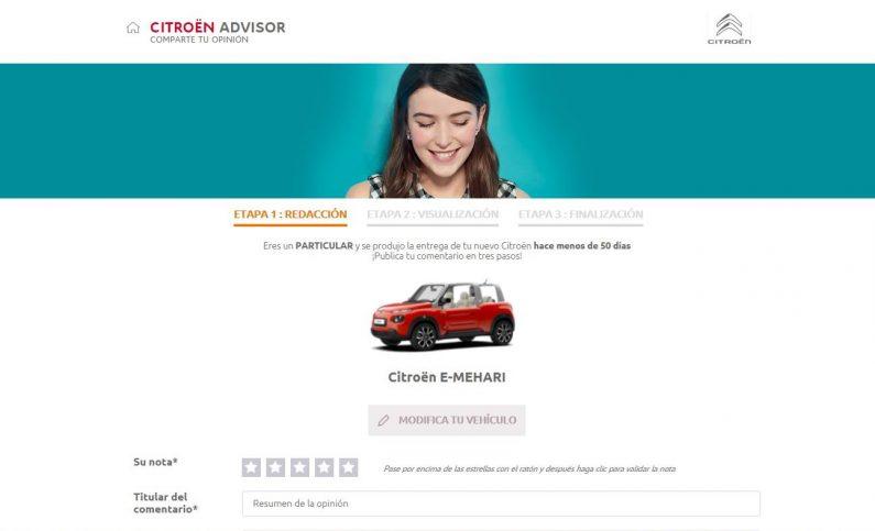 Pon nota a los Citroën en su web.
