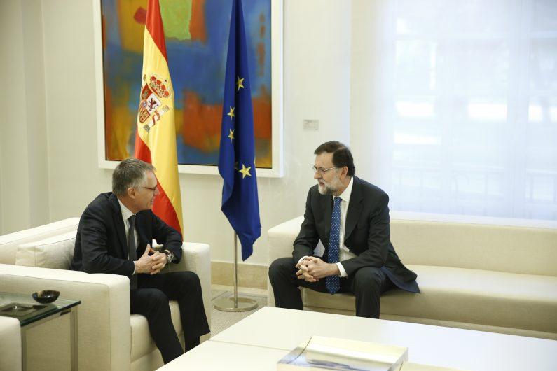 Carlos Tavares y Mariano Rajoy se reunen en Madrid.