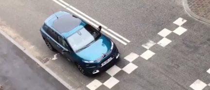 El nuevo Citroën C4 (F3) cazado en el rodaje de su spot.