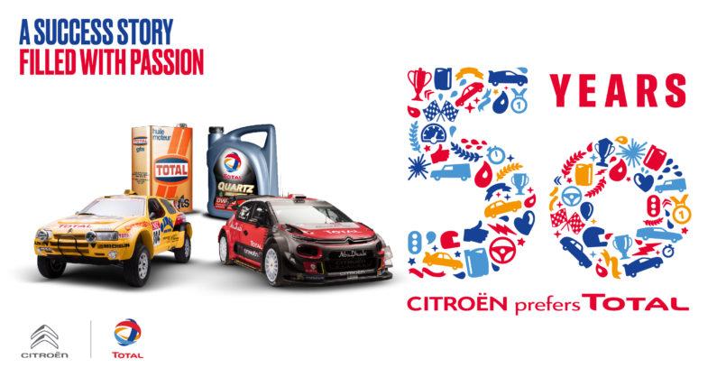 50 años de colaboración Citroën y Total.