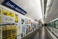 La estación de metro JAVEL-ANDRÉ CITROËN, premiada por su nueva decoración.