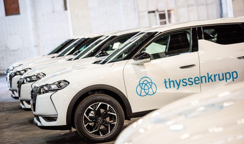 440 unidades de nuevo DS 3 Crossback para ThyssenKrupp.